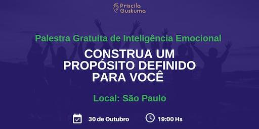 Palestra Gratuita: Construa um Propósito Definido para Você - 30 de Outubro em São Paulo