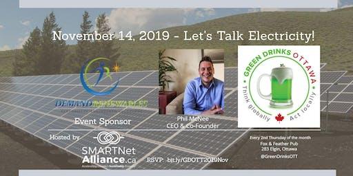 Green Drinks Ottawa - Let's Talk Electricity