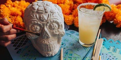 Sip & Paint Sugar Skull Halloween Party