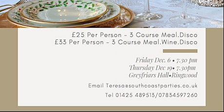CHRISTMAS PARTY DINNER & DISCO tickets