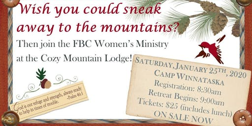 Cozy Mountain Lodge Ladies Retreat