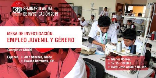 Mesa de Investigación: Empleo Juvenil y Género