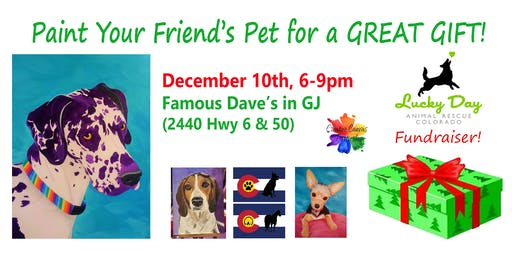 Paint Your Pet's Portrait or Silhouette Fundraiser Lucky Day Animal Rescue