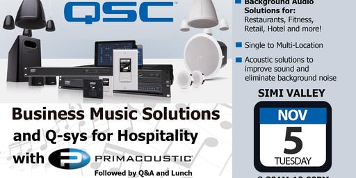 Business Music Solutions & Qsys for Hospitality - Simi Valley - Volutone