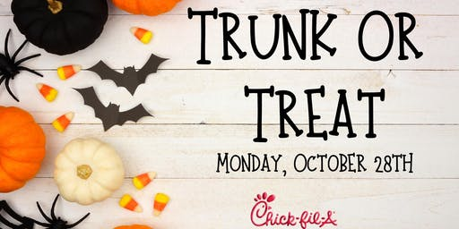 New date: Monday, 10/28 Trunk Or Treat