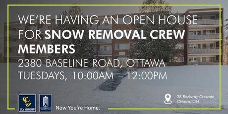 Snow Removal Crew Member Open House tickets
