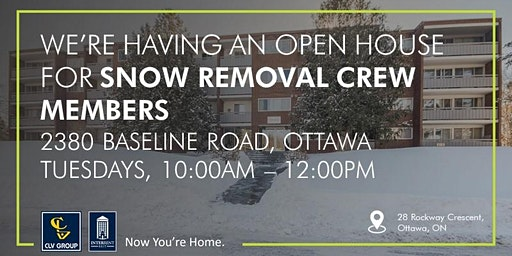 Snow Removal Crew Member Open House