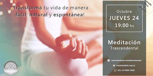 Castelar Jueves 24 - Charla Informativa sobre Meditación Trascendental