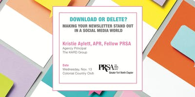 Download or Delete? Making your newsletter stand out in a social media age
