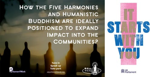 UKPW 2019: The Five Harmonies, Humanistic Buddhism and The Communities