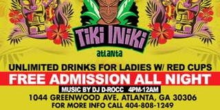 #MADHOUSE SUNDAYS DAY PARTY ATLANTA'S #1 SUNDAY DAY PARTY at Tiki INiki ! Ladies unlimited drinks w/our red cups til 8pm! Free entry !! Free parking!