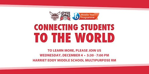 Harriet Eddy International Baccalaureate (IB) Meeting December 2019