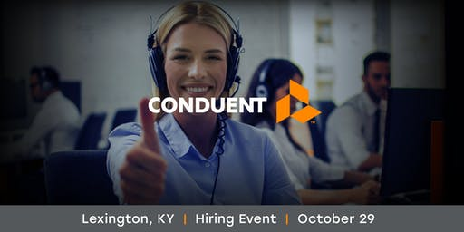 Conduent Hiring Event | Call Center Agents | Tuesday, Oct 29, 2019
