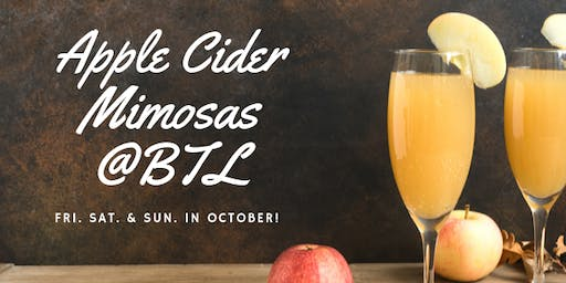 Apple Cider Mimosas @BTL