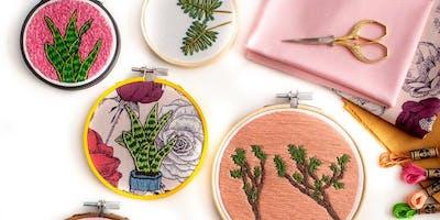 Botanical Embroidery Workshop with Jen Ann Handmade