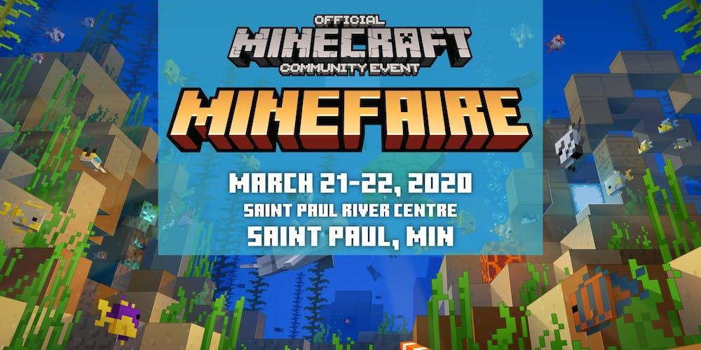 St Paul Sportsman Show 2020.Minefaire An Official Minecraft Community Event St Paul
