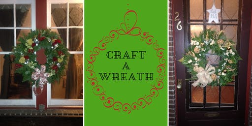 Wine and Holiday Wreath Class