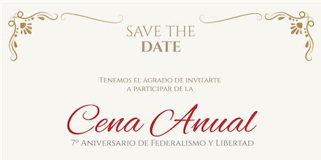 Cena Anual Federalismo y Libertad entradas