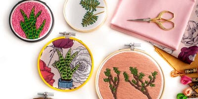 Botanical Embroidery Workshop with Jen Ann Handmade