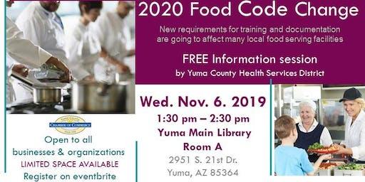 New food code presentation
