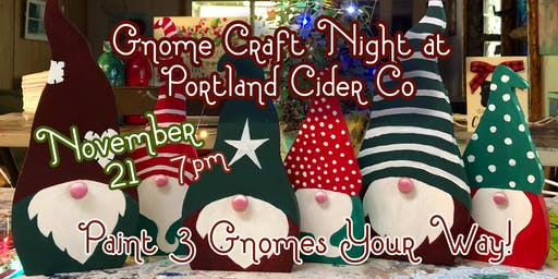 Portland Cider Co 'Gnome Craft Night' November 21