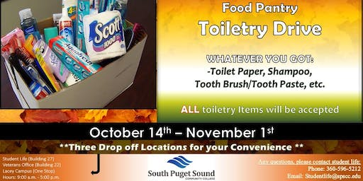 SPSCC Food Pantry Fall Toiletry Drive!