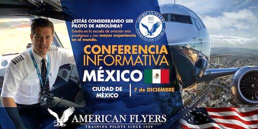 Conferencia Informativa de American Flyers en la CIUDAD de MÉXICO, MÉXICO