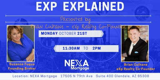 Brian Culhane Presents Introduction to eXp Realty - West Valley Arizona