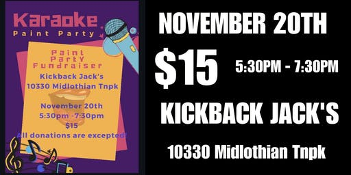 Karaoke Paint Party (Kickback Jack's Midlo)