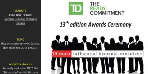 """13th annual edition of TD's """"10 most influential Hispanic Canadians"""""""