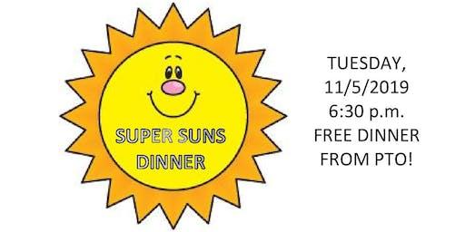 Palisades Elementary 1st Quarter Super Suns Dinner