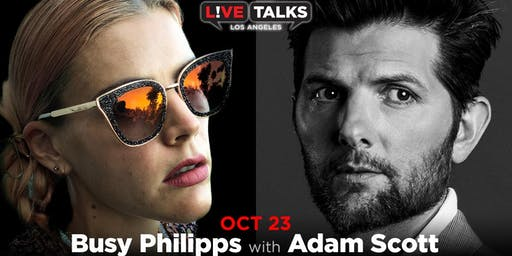 Busy Philipps in conversation with Adam Scott