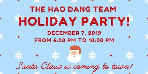 The Hao Dang Team's Holiday Party 2019