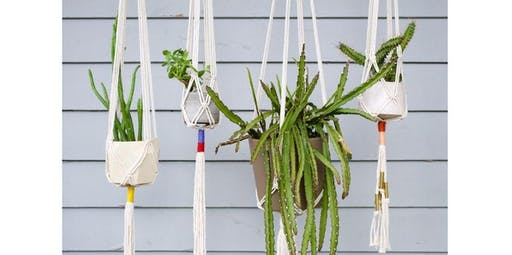 Macrame Plant Hangers with Little Feral (2019-12-04 starts at 7:00 PM)