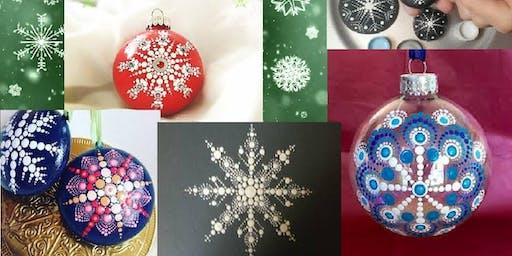 Snowflake Mandala Ornaments at Timberyard