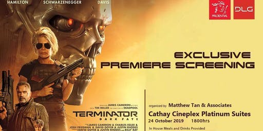 Terminator Dark Fate 24th Oct 19 1800 hrs