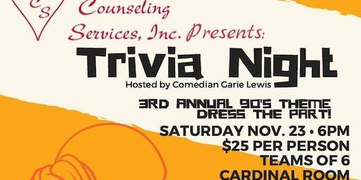 3rd Annual Trivia Night-90's Theme