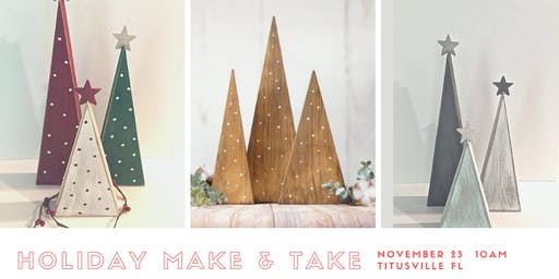 Christmas Tree Make & Take Workshop