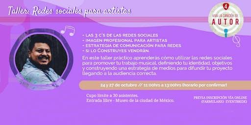 TALLER GRATUITO DE REDES SOCIALES PARA ARTISTAS  (CDMX)