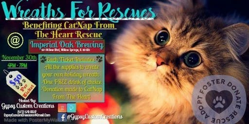 Wreaths For Rescues Benefiting CatNap From The Heart
