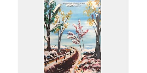 2 Hour Painting Class - Nature - Winter Snow (2019-12-07 starts at 3:00 PM)