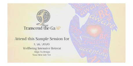 Wellbeing Intensive Sample Session 3 tickets