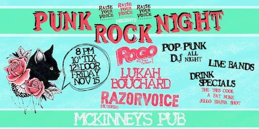 Punk Rock Night w/ Razorvoice + Lukah Bouchard Band + Pogo
