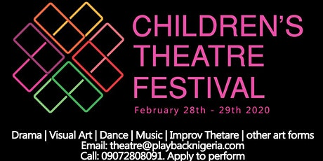 Children's Theatre Festival 2020 tickets