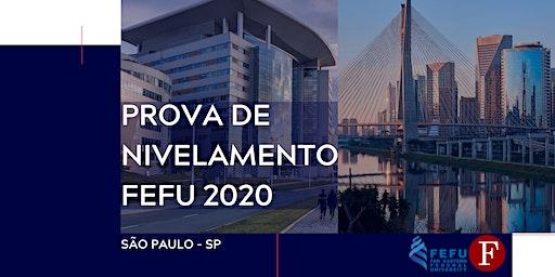 Prova de nivelamento FEFU 2020