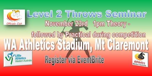Level 2 Throws Seminar