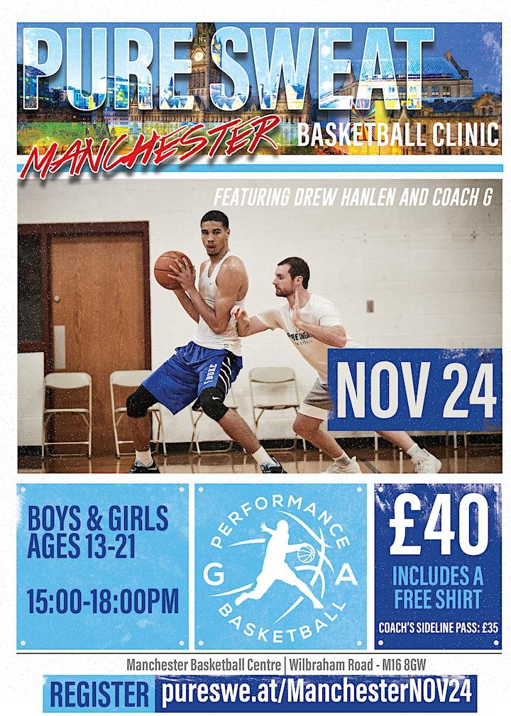 Drew Hanlen x G. A. Performance Manchester Basketball Clinic image
