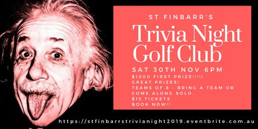 St Finbarr's Trivia Night