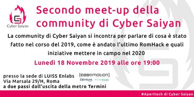 Cyber Saiyan community meet-up - #AperiTech di Cyber Saiyan