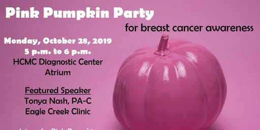 Pink Pumpkin Party for Breast Cancer Awareness